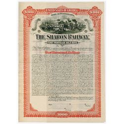 Sharon Railway, 1889 Specimen Bond