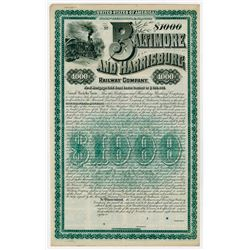 Baltimore and Harrisburg Railway Co., 1886 Specimen Bond
