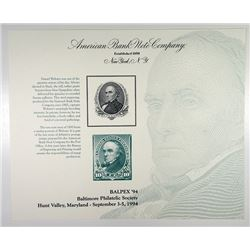 BALPEX'94 Daniel Webster Reprint Intaglio Vignette Portrait used on 1890 Definitive 10 Cent Stamp So