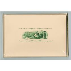Christmas and Holiday Note Cards from Original 1840-60's Steel Engravings