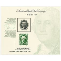 Garfield-Perry Stamp Club 1994, 104th March Party, George Washington Intaglio Portrait used on 1855