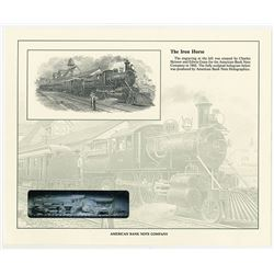 Iron Horse Engraving by Charles Skinner and Edwin Gunn for ABN in 1902 Reprinted Souvenir Card by AB