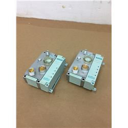 (2) Siemens 6ES7 194-4AD00-0AA0 Connecting Module & 6ES7 154-2AA01-0AB0 Simatic ET 200pro