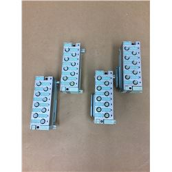 (4) Siemens 6ES7 194-4CB00-0AA0 Connecting Module & 141-4BF00-0AB0 Electronic Module