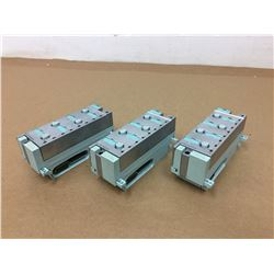 (3) Siemens 6ES7 194-4CA00-0AA0 Connection Module & 141-4BF00-0AB0 Electronic Module