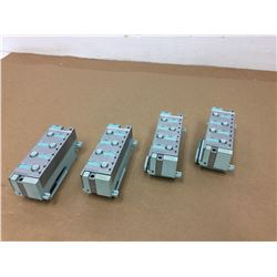 (4) Siemens 6ES7 194-4CA00-0AA0 Connection Module & 141-4BF00-0AB0 Electronic Module