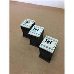 (3) Siemens 3RT1016-1BB41 & 3RT1015-1BB41 & 3RH1122-1BB40 Contactor