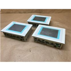 (3) SIEMENS 6AV6 545-0CA10-0AX0 PANEL TOUCH