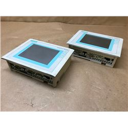 (2) SIEMENS 6AV6 545-0CA10-0AX0 PANEL TOUCH
