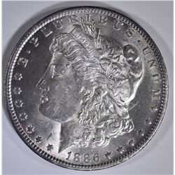 1886-O MORGAN DOLLAR CH BU CLEANED