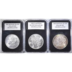 1885, 1885-O & 1886 UNC MORGAN DOLLARS