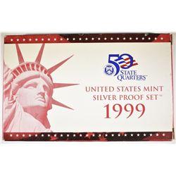 1999 US MINT SILVER PROOF SET IN ORIG PACKAGING W/
