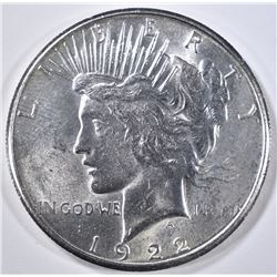 1922-S PEACE DOLLAR  GEM BU