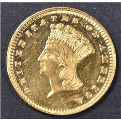 1885 $1 GOLD INDIAN PRINCESS CH BU  PL
