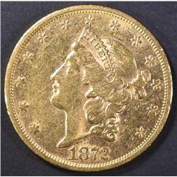 1872-S $20 GOLD LIBERTY  BU