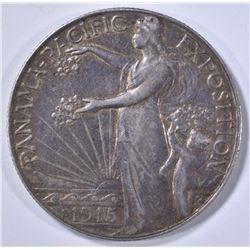 1915-S PANAMA-PACIFIC COMMEM HALF DOLLAR  AU