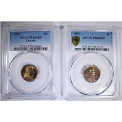 2 PCGS GRADED LINCOLN CENTS