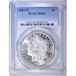 1885-O MORGAN DOLLAR   PCGS MS-63
