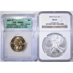 2 COIN LOT: