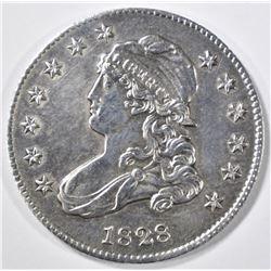 1828 BUST QUARTER   AU/BU