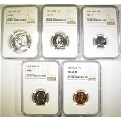 1965 SMS SET NGC GRADED MS-67