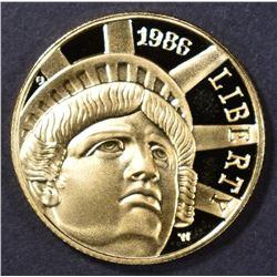 1986 PROOF STATUE OF LIBERTY $5.00 GOLD COMMEM