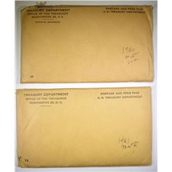 1960 & 61 U.S. MINT UNC SETS ORIG ENVELOPES