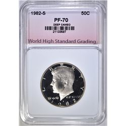 1982-S KENNEDY HALF, WHSG PERFECT GEM PF DCAM