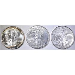 1987, 98 & 2010 BU AMERICAN SILVER EAGLES