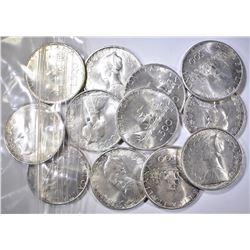 12-1967 SILVER 500 LIRA COINS