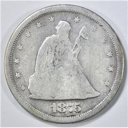 1875-S 20 CENT PIECE GOOD