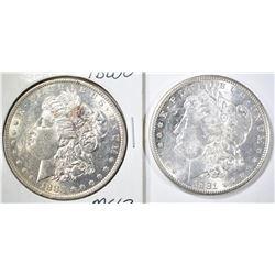 (2) MORGAN DOLLARS: 1883-O CH BU &