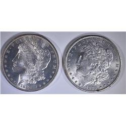 2 1885-O MORGAN DOLLARS CH BU