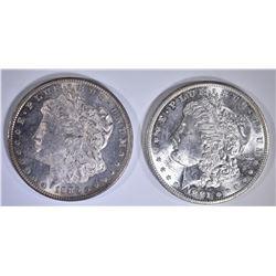 1885-O & 1881-S MORGAN DOLLARS