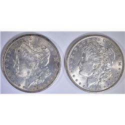 1881-S & 1886 CH BU MORGAN DOLLARS
