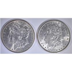 1886 & 1887 CH BU MORGAN DOLLARS