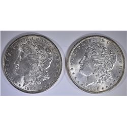 1889 & 1896 CH BU MORGAN DOLLARS