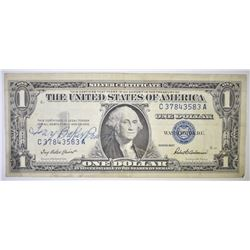 1957 $1.00 SILVER CERT, GARY PREIST SIGNATURE