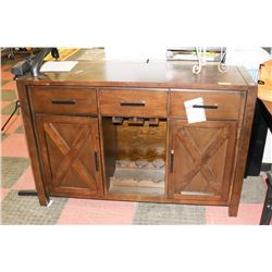 WOOD 3 DRAWER 2 DOOR WINE SIDEBOARD