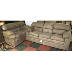 "NEW MICROFIBER 84"" SOFA AND 62"" LOVESEAT"