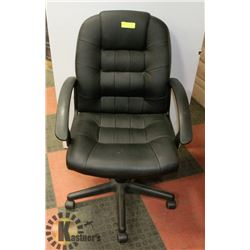 LEATHERETTE HYDRAULIC LIFT OFFICE CHAIR