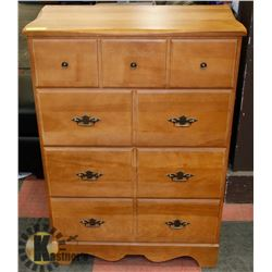 FRUITWOOD 4 DRAWER DRESSER