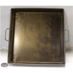 "HEAVY DUTY 3 STRAP ROASTING PAN 22""X22"""