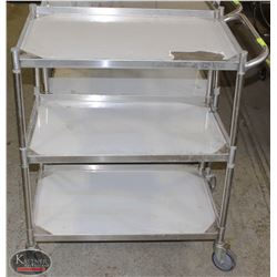 3-TIER S/S COMMERCIAL SERVICE CART W/ HANDLE
