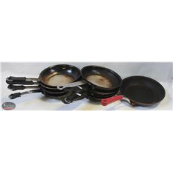 LOT OF 9 SMALL FRYING PANS 6""