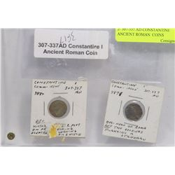 TWO 307-337 AD CONSTANTINE ANCIENT ROMAN  COINS