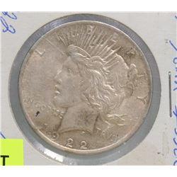 1922 SILVER USA PEACE DOLLAR