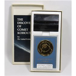1974 GOLD AND SILVER PLATED MEDALLION OF COMET