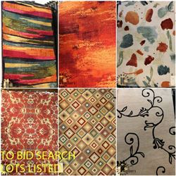 FEATURE LOTS: RUGS & CARPETS!
