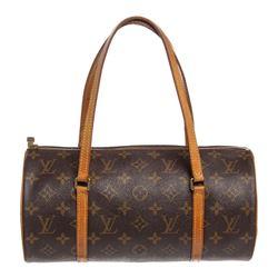 Louis Vuitton Monogram Canvas Leather Papillon 30 cm Shoulder Bag